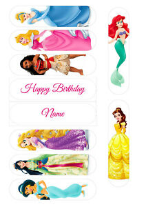 Disney Princess Eclair Toppers | Icing Sheet / Wafer Paper | Edible Print