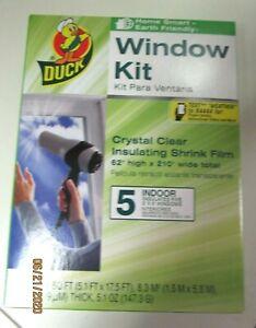DUCK WINDOW KIT..5 INDOOR 3' X 5' WINDOWS...