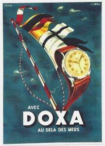 Original vintage poster DOXA FINE SWISS SAILING WATCH 1932