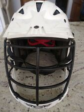 Cascade Clh2 Lacrosse Helmet White With Chinstrap Adjustable Men/Women Size M
