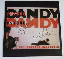 "THE JESUS AND MARY CHAIN Signed Autograph ""Psycho Candy"" Album Vinyl LP"