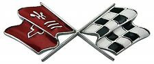 1969 - 1973 Corvette C3 Crossed Fuel Door Emblem (Made in USA)