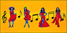 Original painting of dancers titled 'Trouble Clef' by artist Cliff Howard