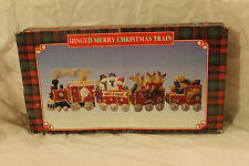 Trippie's Hinged Merry Christmas Train 1999 Kitsch Unusual Holiday Decor Rare
