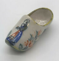 Old Early Antique Quimper CAMILLE MOREAU HR HENROIT French Faience Pottery Shoe