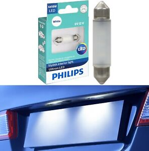 Philips Ultinon LED Light 6418 White 6000K One Bulb License Plate Tag Lamp Fit