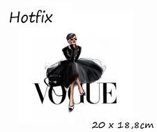 Bügelbild Dame Vogue  Hotfix Applikation für Ihre Textilien