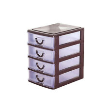 4-floor Plastic Drawer Small Tower Storage Unit Office Cosmetic Home Organiser