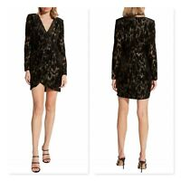 BARDOT | Womens Ariela Metallic Long Sleeve Mini Dress NEW [ AU 12 or US 8 ]
