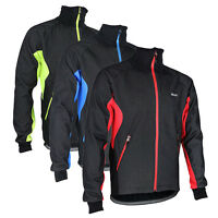 New Mens Cycling Windproof Waterproof Thermal Fleece Jacket Bicycle Jersey Tops