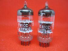 Matched pair SIEMENS E81CC 12AT7WC very strong NOS NIB ecc801s tube valvola