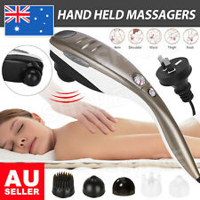 Electric Hand held Massager Full Body Massage Heat Neck Back Shoulder Leg AU