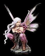 fées figurine - violet avec petit Dragons - Elfe Fée Déco Statue Motif