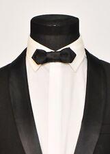 Mens FERUCCI Small  Bow Tie - Black Silk Bow tie, Mens bow tie