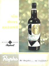 PUBLICITE ADVERTISING  026  1958  ST Raphael  apéritif Rapha