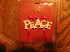 Lenox Greetings Of The Season Peace Tag New