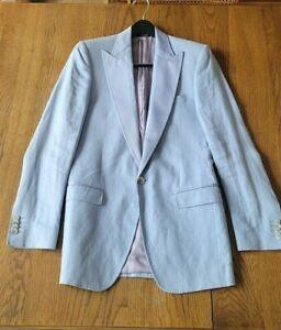 dolce gabbana dolce & gabbana suit jacket blazer coat light blue linen 36 46