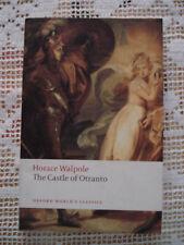 HORACE WALPOLE The castle of Otranto in inglese ed. Oxford 2008 Romanzo Gotico