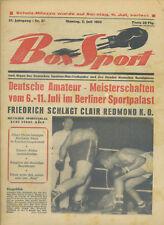 Zeitschrift Box Sport 35. Jahrgang 1954 Nr. 27 Amateur-Meisterschaften Redmond