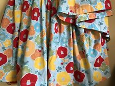 Pine Cone Hill Floral Red Yellow Bright Flowers Twin Blue Bed skirt Annie Selke