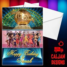 Strictly Come Dancing Birthday card 2018 Line Up FREE P+P and name