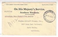 Causeway Southern Rhodesia OHMS Official to Douglas Aircraft Co Santa Monica CA