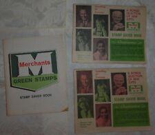 Vintage Lot of 3 - Merchants Green Stamps Saver Book