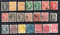 Canada QV fine collection of Heads unchecked WS20975