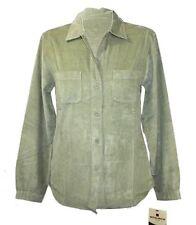 Woolrich - Womens XS - NWT - Sage/Moss Green Light-Weight Micro-Corduroy Shirt