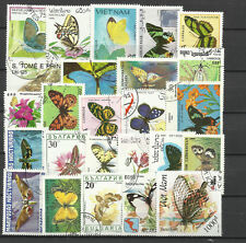 BUTTERFLIES & MOTHS Collection Packet 25 Different Stamps (Lot 1)