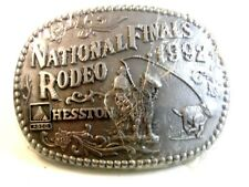 1992 National Finals Rodeo Hesston Belt Buckle By ADM Mint In Plastic