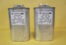 Two (2) Aerovox Z96S5224NN 24uF 90°C 50/60Hz 525V Capacitor (DD6)*