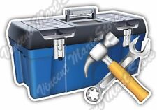 "Motor Vehicle Repair Shop Tool Box Hammer Car Bumper Vinyl Sticker Decal 5""X4"""