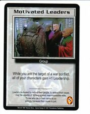 BABYLON 5 CCG Premier  MOTIVATED LEADERS
