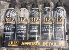 5 Pack Waterless IBIZ Rgs LabAerosol car Cleaning Kit Wax,Tire,Interior, Sealed