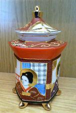 Pagoden Teedose Ingwer Topf Satsuma Porzellan Japan 1960er Jahre H17cm