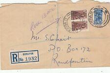 SOUTH AFRICA BRAKPAN 1943 REGISTERED COVER. Rfno.C257.