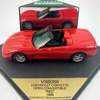 Vitesse 1:43 V98086 1998 Chevrolet Corvette convertible open top - red