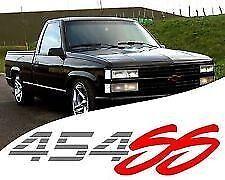 (2) 454 SS Chevy Truck 4x4 Off Road Silverado 1500 Sticker Vinyl Decal Red