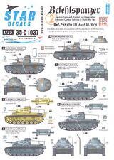 Star Decals 1/35 BEFEHLSPANZER Panzer III Tanks
