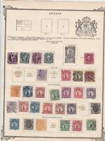 sweden  early stamps  on album page ref r11433