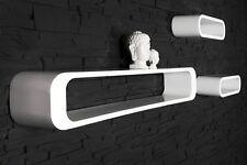 Regal Wandregal RETRO CUBE LONG 3er weiss Lounge Club 60/70er Design Regalsystem