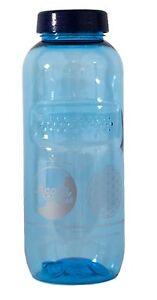 Acala Tritan Trinkflasche mit Blume des Lebens Aufdruck 0,5 Liter blau-transp.