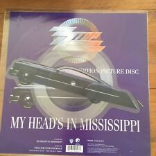 """ZZ Top - My Heads In Mississippi 7"""" Shaped Picture Disc Vinyl"""