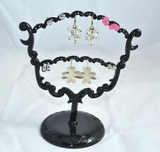Schmuckhalter 23,5 cm Schmuckständer Ohrringhalter Ohrringständer klein schwarz