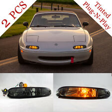 NA MIATA Tinted Front Bumper Lights (Pair) Mazda MX-5 MX5 Plug N' Play NEW