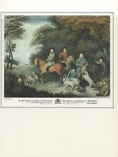 """1974 Vintage HUNTING """"THE RETURN FROM SHOOTING"""" FLINTLOCK COLOR Art Lithograph"""
