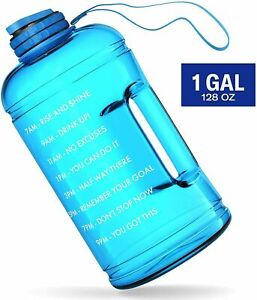 128 OZ Large Water Jug 1 Gallon Motivational Water Bottle with Time Maker&Handle