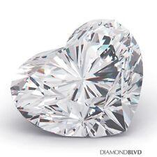 1.15 Carat H/SI2/V.Good Cut Heart Shape AGI Earth Mined Diamond 7.03x7.78x3.66mm
