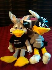 Warner Bros Bugs & Daffy Hunting Season Disguised Bean Bag Plush Pair 1998 Nos